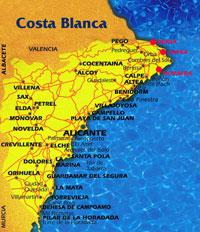 Побережье Коста Бланка в Испании