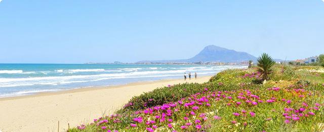 Красивый район Дении для отдыха у моря