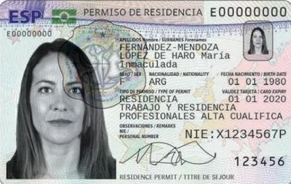 Документ ВНЖ в Испании